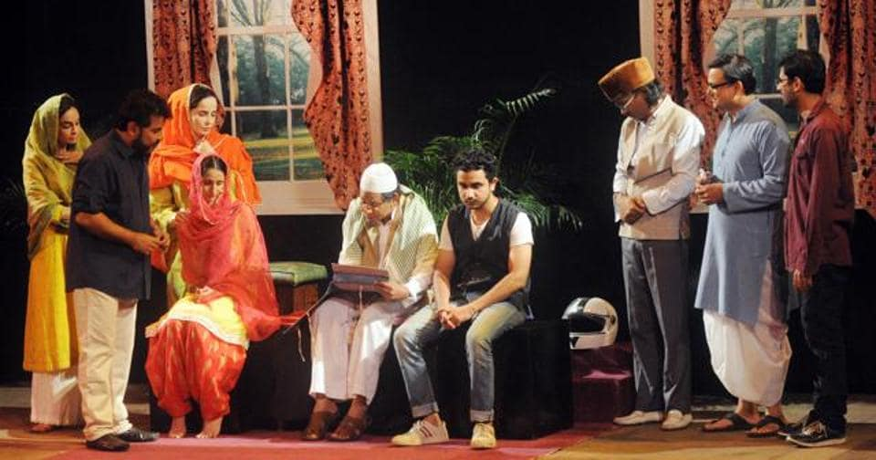 A scene from the play Phir Se Shaadi, where a divorced Muslim couple wonders how to get back together.