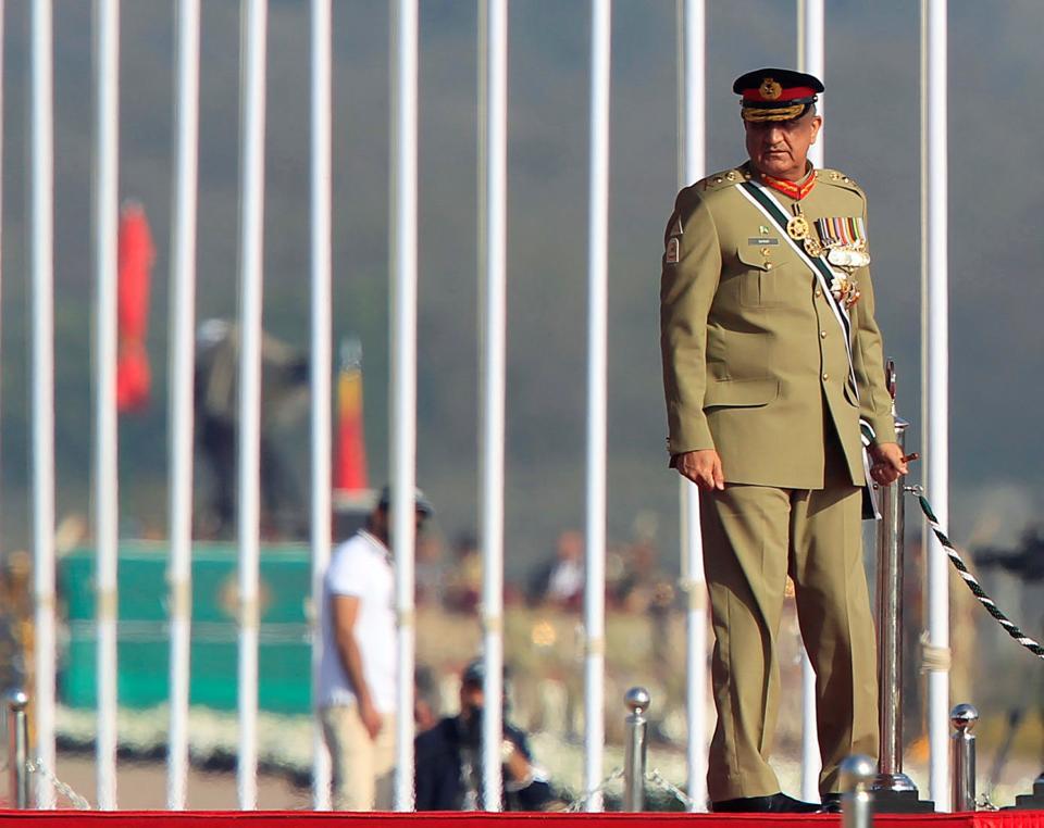"""Gen Bajwa accused """"enemies of Pakistan"""" of waging war against the country."""