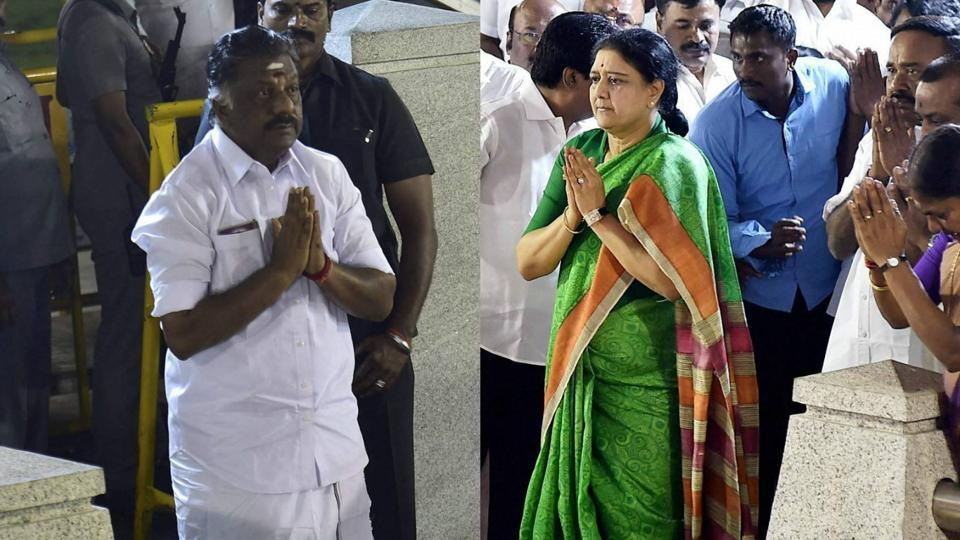 The faction led by O Panneerselvam has asked the Election Commission to restrain the Sasikala group from using the AIADMK office.