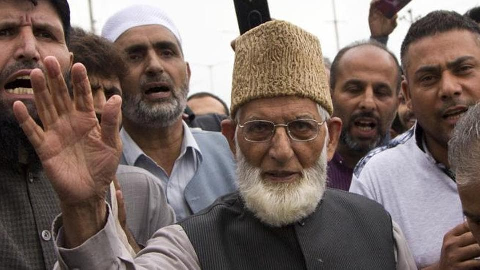Syed Ali Shah Geelani, a senior leader of the hardliner faction of the All Parties Hurriyat Conference, is among those named in a preliminary enquiry and may be called for questioning.