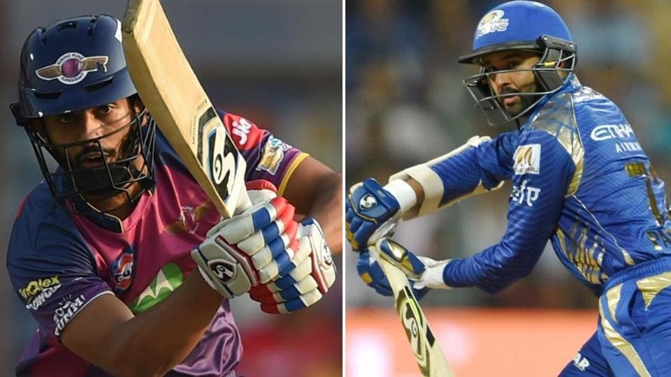 RPS opener Rahul Tripathi and Mumbai Indians opener Parthiv Patel have both impressed in this year's IPL.  (HT photo)