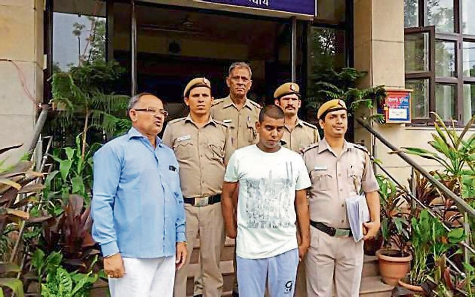 Anil Panwar in police custody .