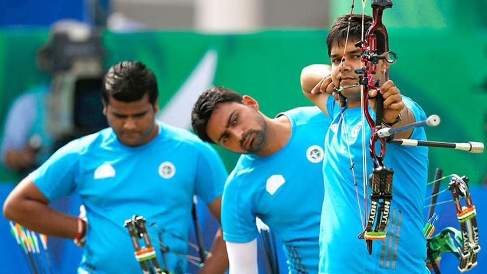 Abhishek Verma (shooting) played a key role as the Indian men's team won the compound gold medal in archery World Cup stage one in Shanghai on Saturday.
