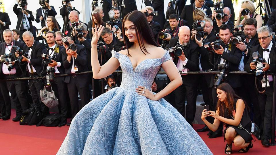 Actor Aishwarya Rai Bachchan slayed it in this cinderella gown at the red carpet of Cannes Film Festival.