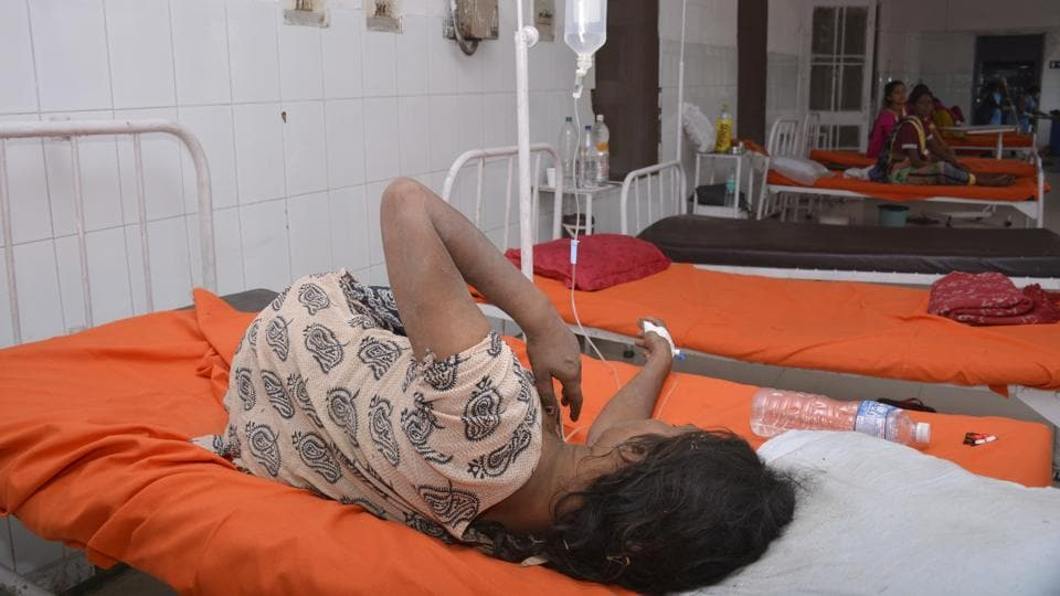Police admitted the woman to the district hospital after she was found at Meerut crossing in Ghaziabad on Saturday.