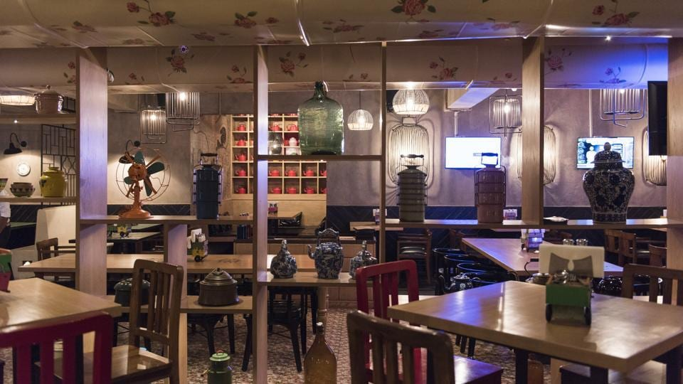 The decor at Desi Culture in Lower Parel is playful — brick and Mangalore tile on one wall, Chinese-style etching on another. Atiny wooden dumper truck holding tissues and cutlery on each table. Some of the cocktails are served in a quarter bottle.