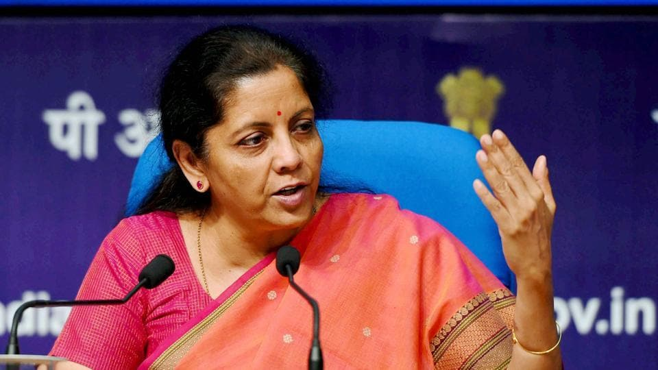 Commerce and Industry Minister Nirmala Sitharaman interacting with media on the key initiatives and achievements of the ministry during three years in government in New Delhi on Saturday.