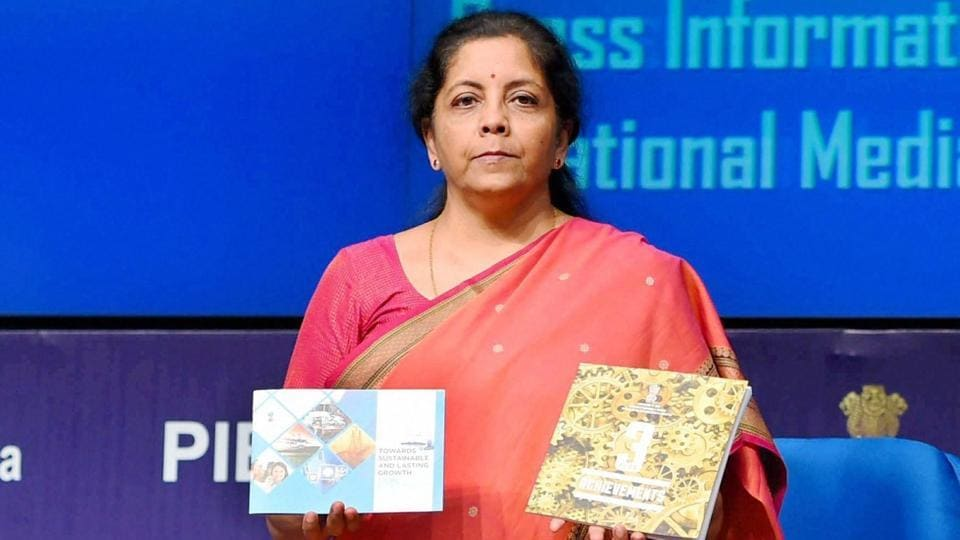 Commerce and Industry Minister Nirmala Sitharaman releasing a book on the achievements of the ministry during the three years in government in a press conference in New Delhi on Saturday.