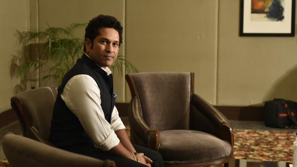 Sachin Tendulkar during an interview with Hindustan Times in New Delhi. (Photos: Vipin Kumar/ Hindustan Times)