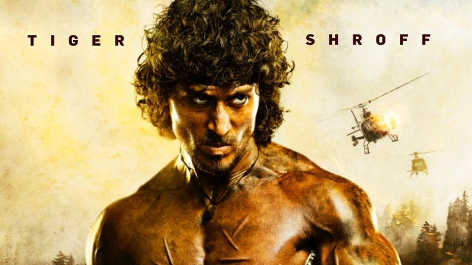 Tiger Shroff on the poster of Rambo.