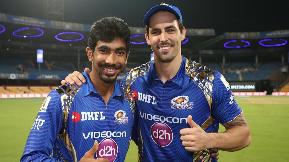 Jasprit Bumrah and Mitchell Johnson shared five wickets between them as Mumbai Indians beat Kolkata Knight Riders by six wickets to enter their fourth IPL final.