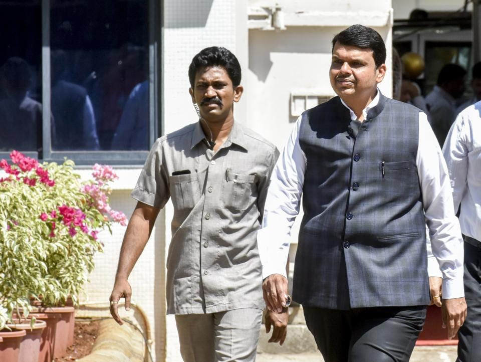 Chief minister Devendra Fadnavis arrives for a three-day special session of the Maharashtra Assembly in Mumbai on Saturday.