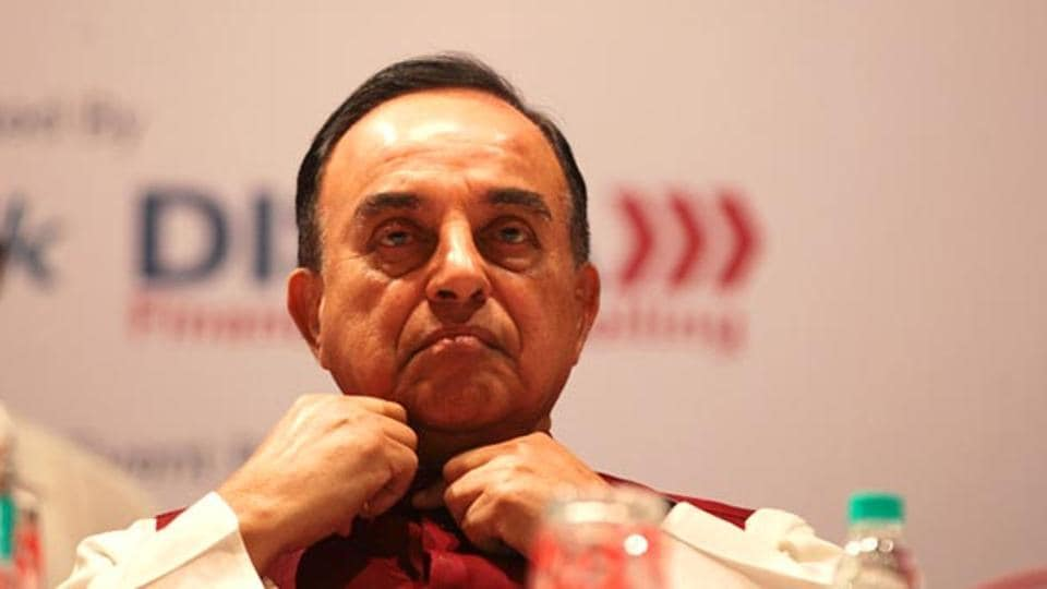 BJP leader Dr Subramanian Swamy interacted on the black money bill, in Mumbai.