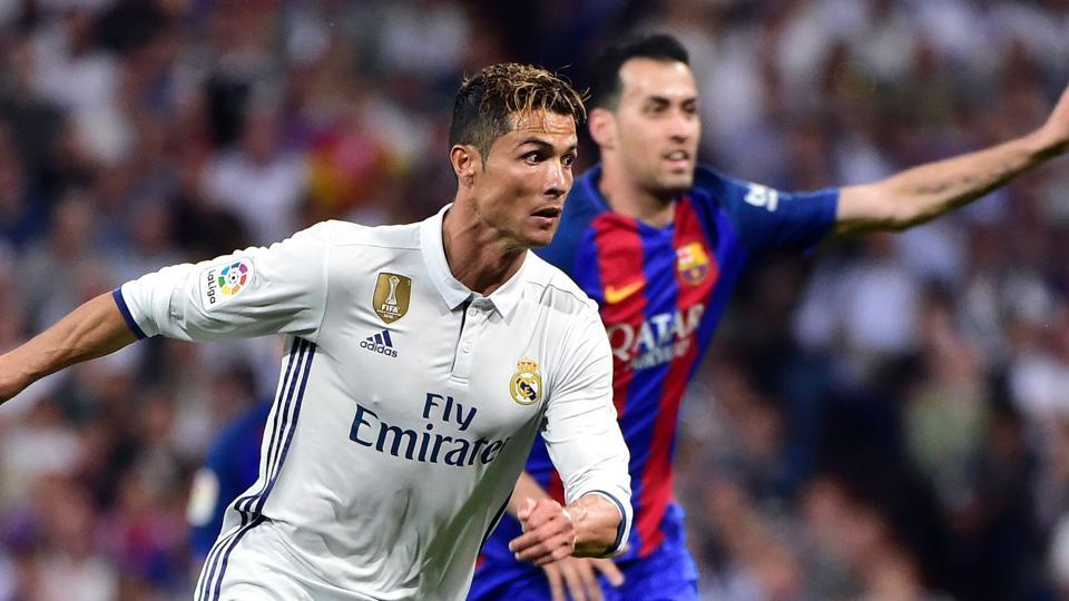Cristiano Ronaldo (L) has been key to Real Madrid La Liga title quest this season.