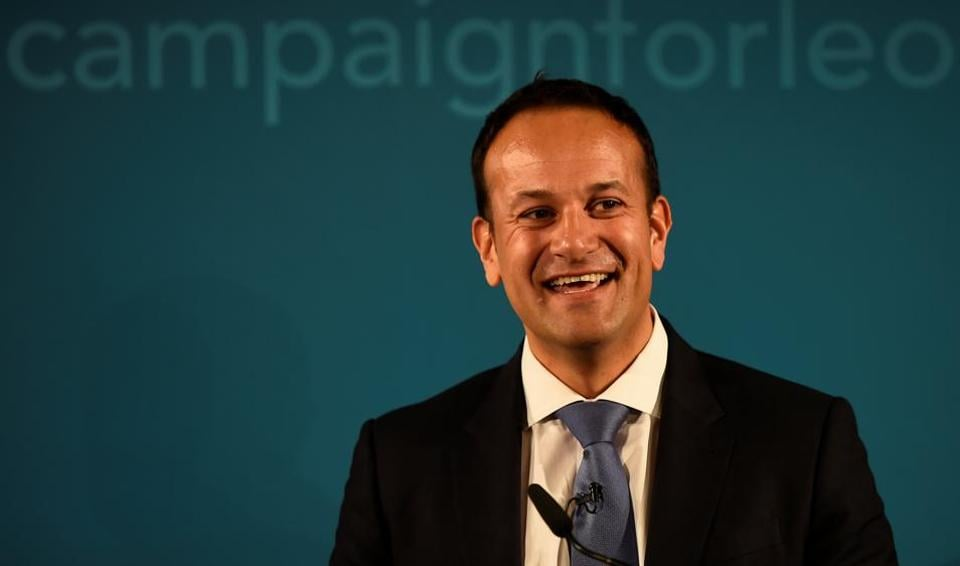 Ireland's minister for social protection Leo Varadkar launches his campaign bid for Fine Gael party leader in Dublin, Ireland, on Saturday.