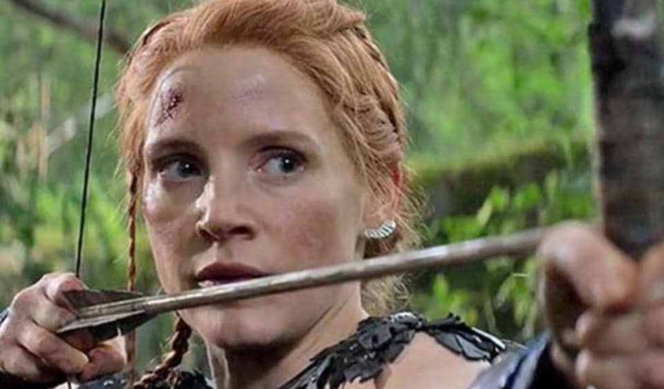 Jessica Chastain in a still from The Huntsman: Winter's War.