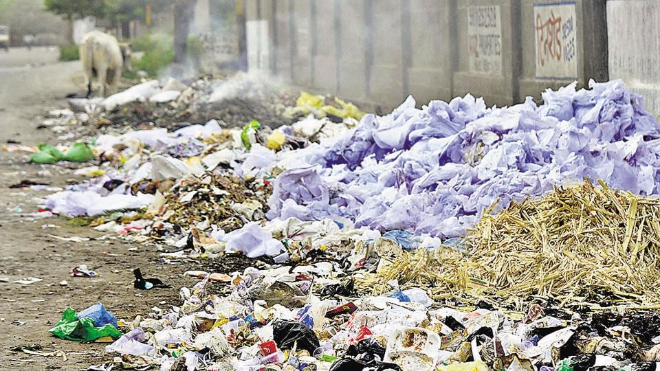 Garbage has been accumulating in Noida as sanitation workers have boycotted work again. They had also protested and refused to collect garbage for 10 days in December 2016.