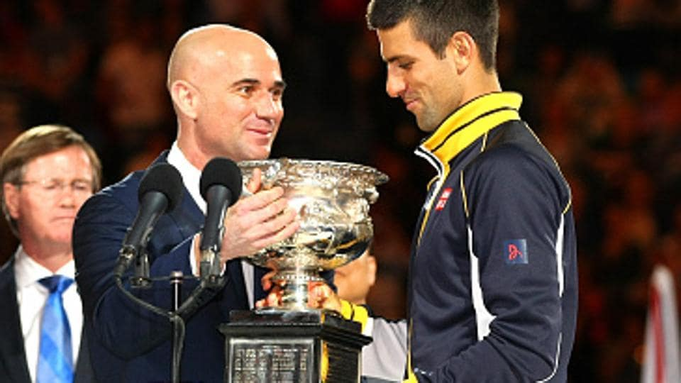 Novak Djokovic,Andre Agassi,French Open tennis championship