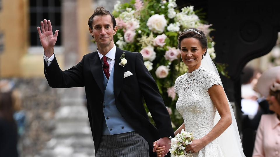 Middleton, 33, wed her fiancé, millionaire financier James Matthews, 41, at an ancient English village church near the Bucklebury home of her wealthy parents, Carole and Michael Middleton, where Pippa grew up about 50 miles outside London. (Justin TALLIS / AFP)