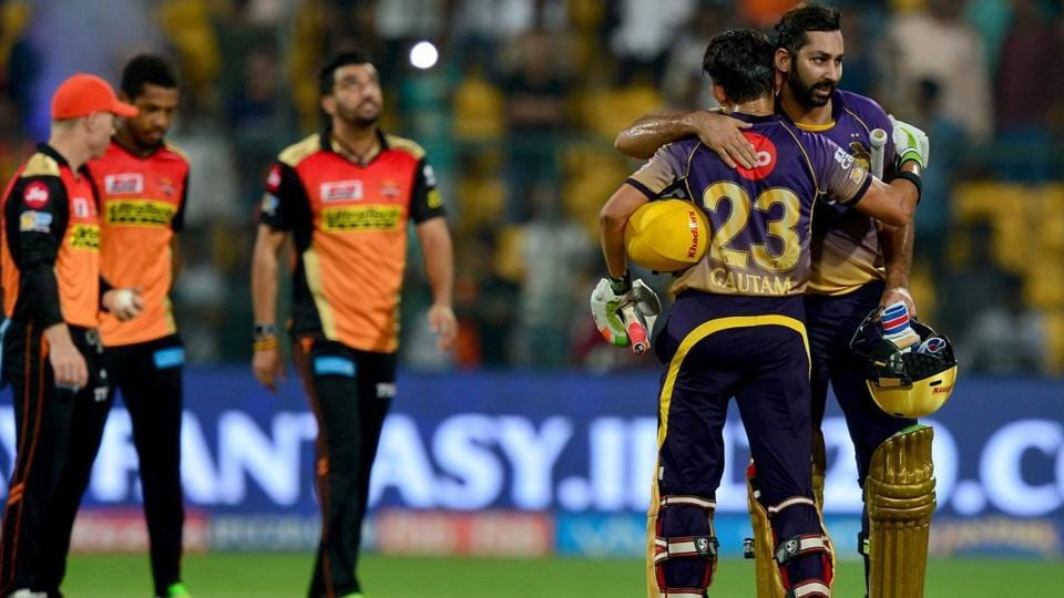 The IPL 2017 Eliminator between Sunrisers Hyderabad and Kolkata Knight Riders finished at 1:30 am as rain washed out more than three hours of play and there were no reserve days. (AFP)
