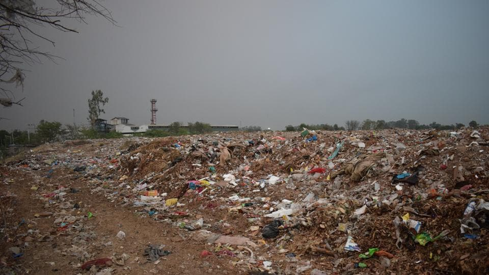 The dumping site at Dadumajra. Residents living in nearby areas have been complaining of diseases.