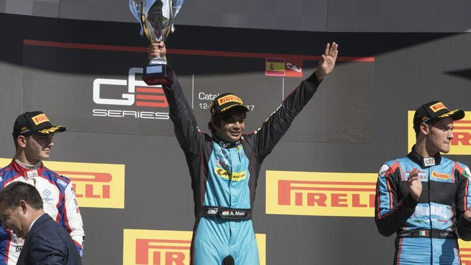 Arjun Maini is the first Indian to win a GP3 (a feeder series to GP2) race. He is a development driver with F1 team Haas.