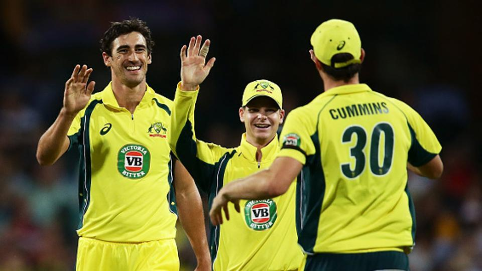Pacers Mitchell Starc (left)and Pat Cummins (right)will have a huge say in Steve Smith-led Australia cricket team's fortunes at the ICCChampions Trophy 2017, where conditions are expected to favour the quickies.