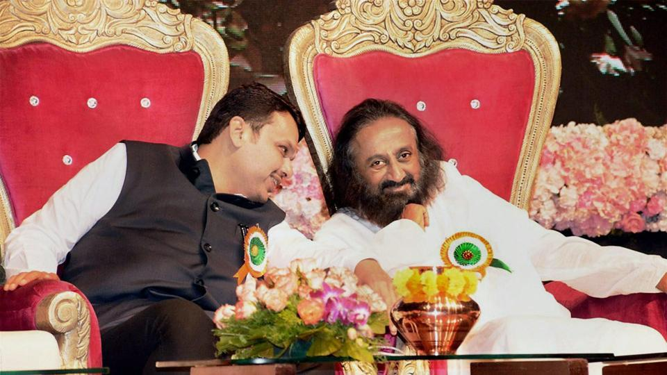Maharashtra Chief Minister Devendra Fadnavis with Art of Living Foundation founder Sri Sri Ravi Shankar at an event in Pune. Those devoted to one or other guru in India will take no time coming up with the name of an inspirational figure. Sri Sri Sri Ravi Shankar… 'So calming, so soothing…ayyo', Sathguru Jaggi Vasudev… 'Have you heard him? So simply he speaks, so easy to understand…'