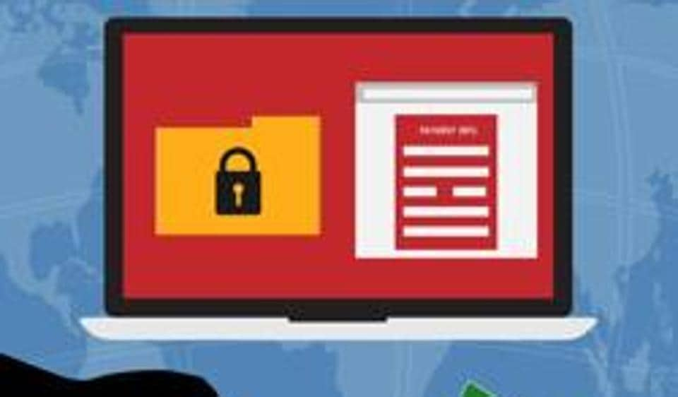 A ransomware is a virus that enters your computer, locks down files and demands a ransom for unlocking them.