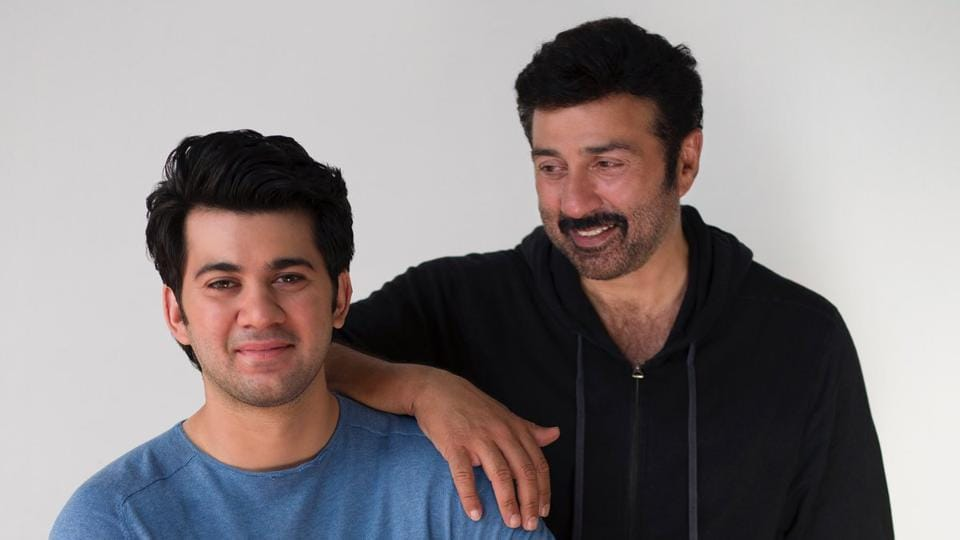 Sunny Deol with his son, Karan, who is set for Bollywood debut with Pal Pal Dil Ke Paas.