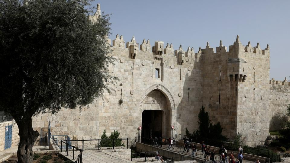 "AFTER: Damascus Gate is seen 50 years on. For Israelis, all of Jerusalem, including the Old City and its eastern suburbs, is their ""eternal and indivisible"" capital. (Ronen Zvulun  / REUTERS)"