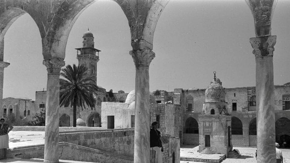 BEFORE: Ancient archway and ramp leading to the Qayt Bay fountain or Sabil Qaitbay (Center, lower court), on the compound known to Muslims as Noble Sanctuary and to Jews as Temple Mount, in Jerusalem's Old City (REUTERS)