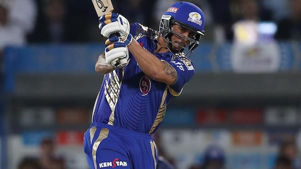 Mitchell Johnson of Mumbai Indians in action against Rising Pune Supergiant. (BCCI)