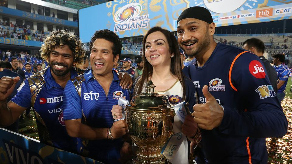 Mumbai Indians owner Nita Ambani was at the thick of things during the celebrations on Sunday. (BCCI)