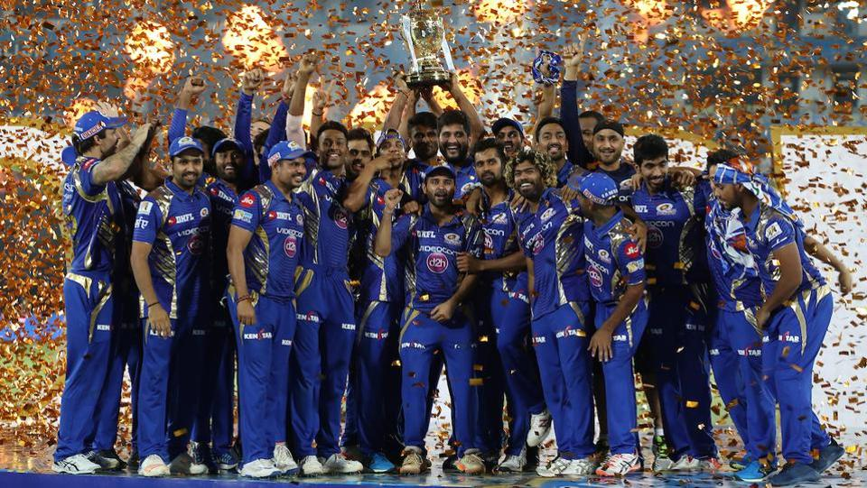 This was MI's third IPL title, the highest by any team in the tournament's history. (BCCI)