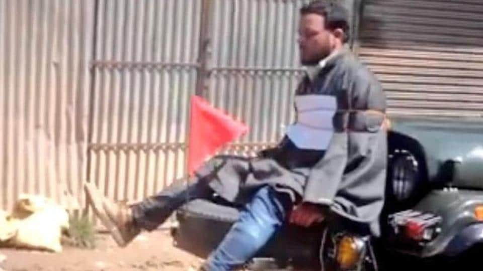 An Indian Army Major involved in tying up a Kashmiri man to a jeep bonnet to ward off stone-pelters in Kashmir has been awarded the Army chief's Commendation Card for sustain efforts in counter-insurgency operations.