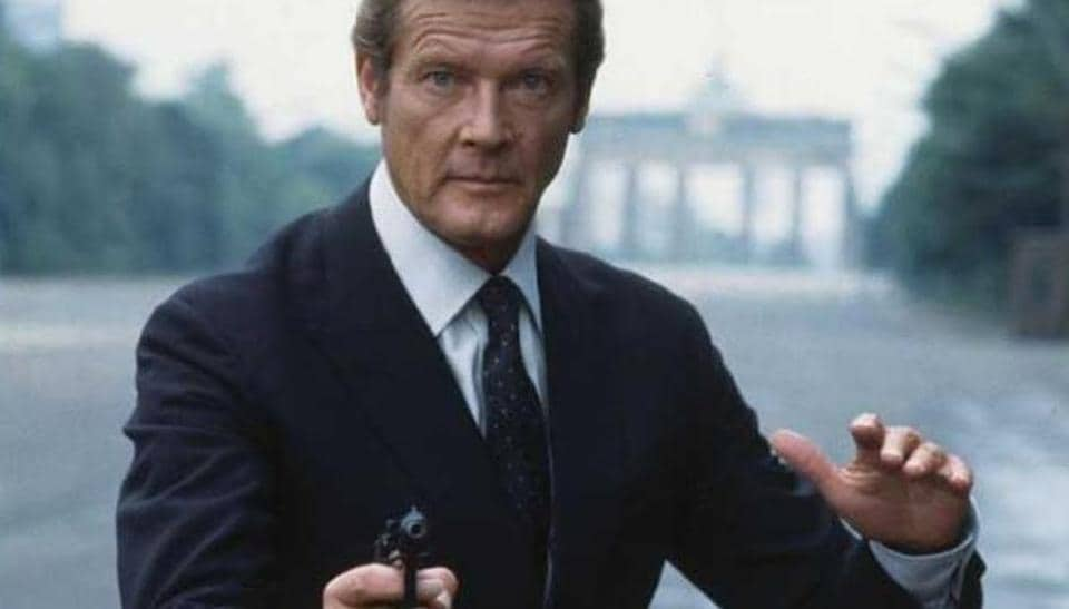 Roger Moore in a scene from Octopussy, parts of which were shot in India.