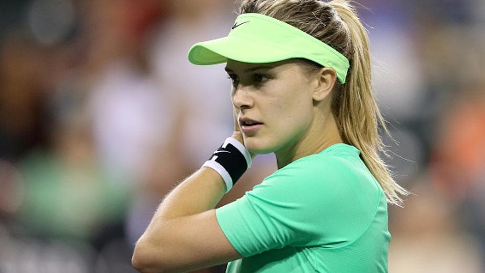 An MRTscan revealed Eugenie Bouchard had torn a ligament in training the previous week.