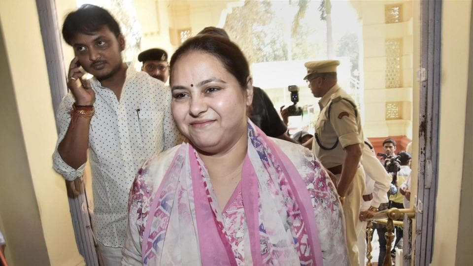 File photo of RJD Chief Lalu Prasad's daughter Misha Bharti. A chartered account linked to a firm owned  by Misha was arrested  on Monday on money laundering charges.