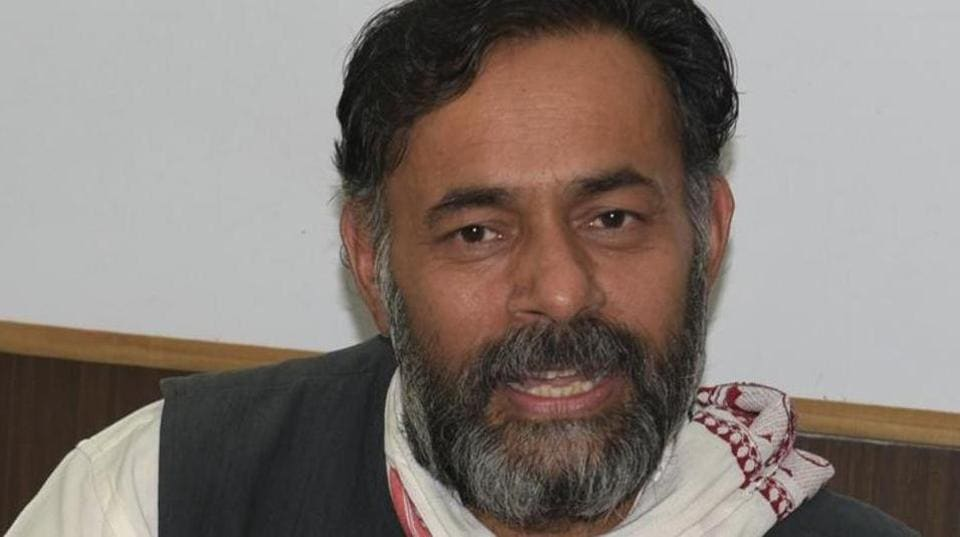 AAP founding members Yogendra Yadav (in picture) and Prashant Bhushan were expelled from the party in April 2015 after which they formed a breakaway group called Swaraj Abhiyan.