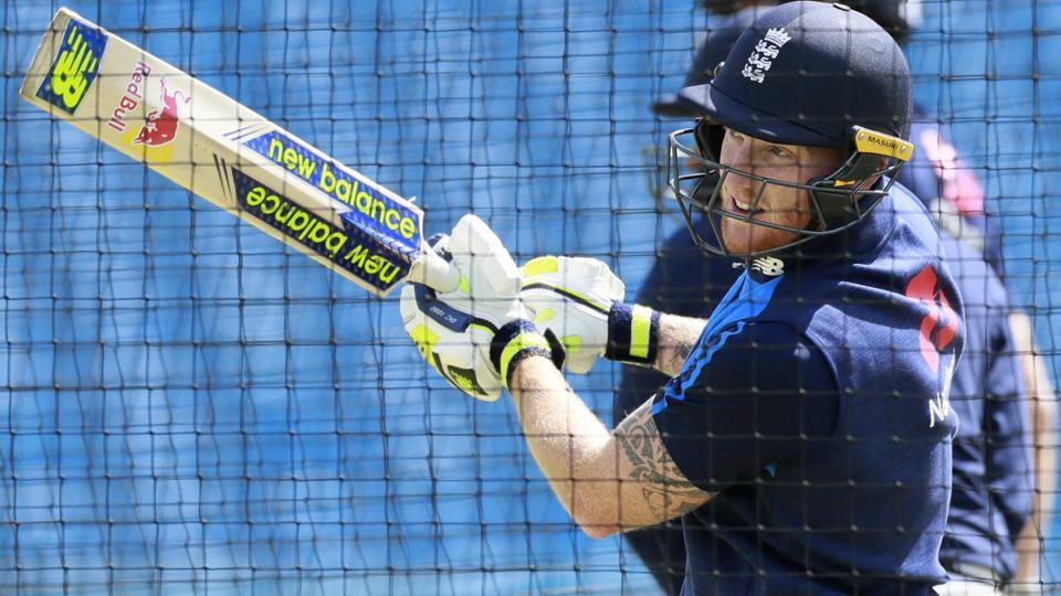 England's Ben Stokes during nets ahead of their match against South Africa.