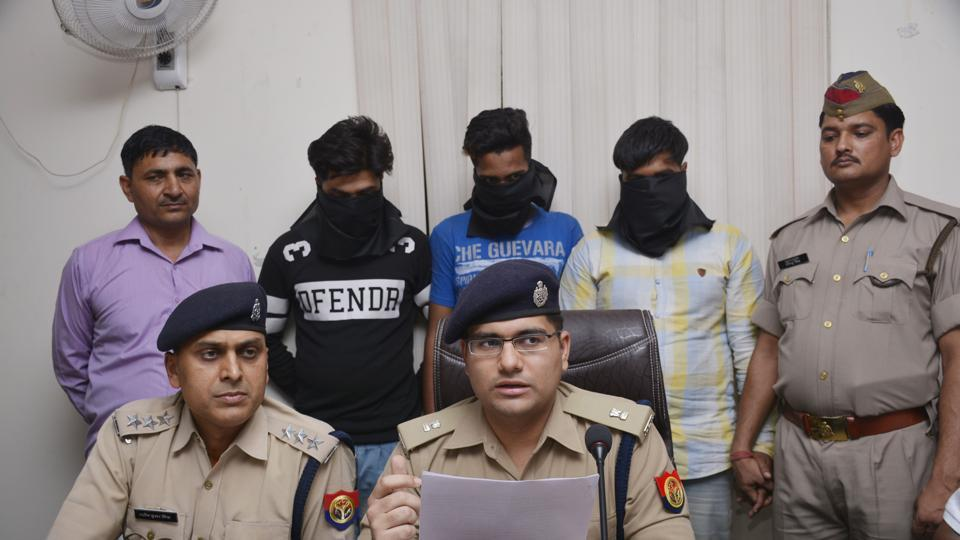 The three accused were identified as Nadeem, a BBA student, Mohammad Qasim, a civil engineering student and Moin, who had studied up to class 10.