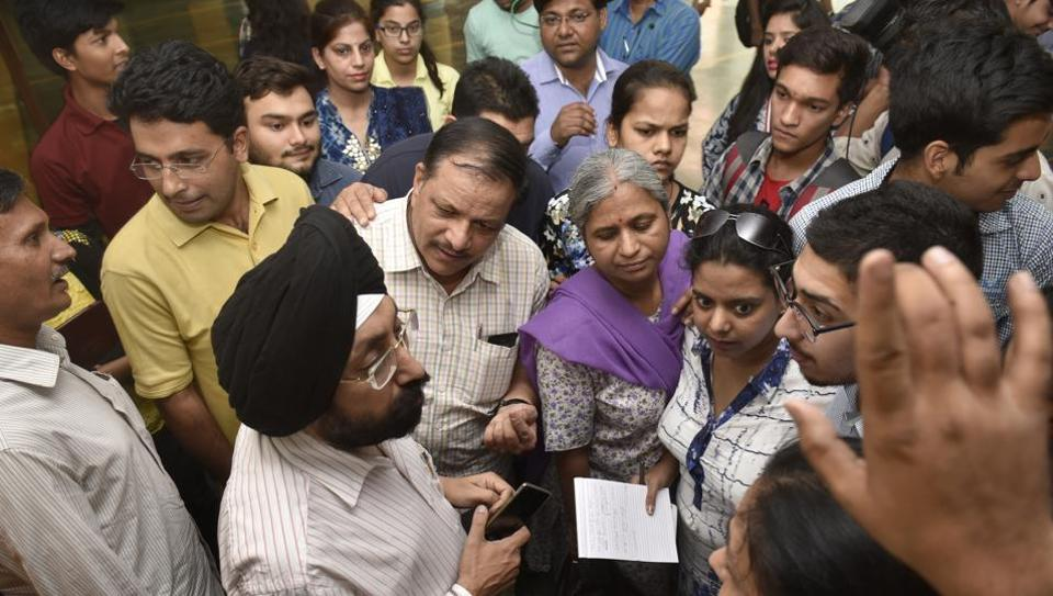The second day of Delhi University's 'Open Day' event on Tuesday saw hundreds of candidates and their parents flocking to North Campus to have their queries answered.
