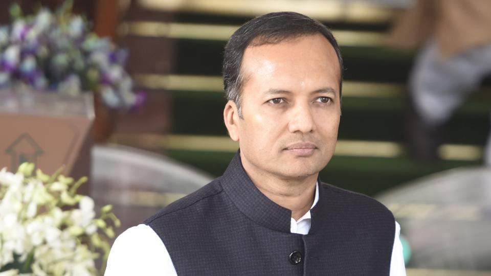 New Delhi, India- Ferberary 24, 2016: Former congress MP Naveen Jindal after attending the Parliament Budget Session 2016, in New Delhi on February 24, 2016. ( Photo by Sonu Mehta/ Hindustan Times)