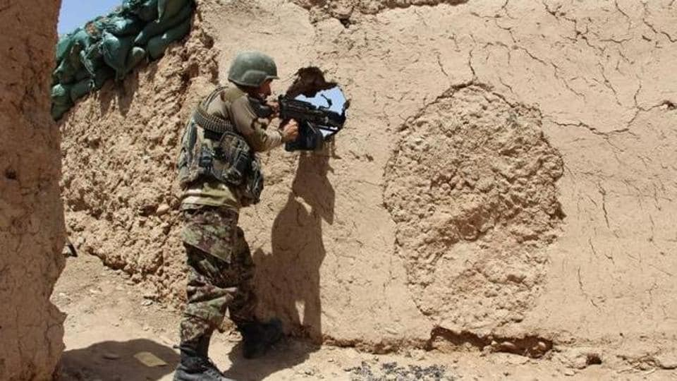 At least 10 Afghan soldiers were killed in a militant attack on army base in the southern province of Kandahar.