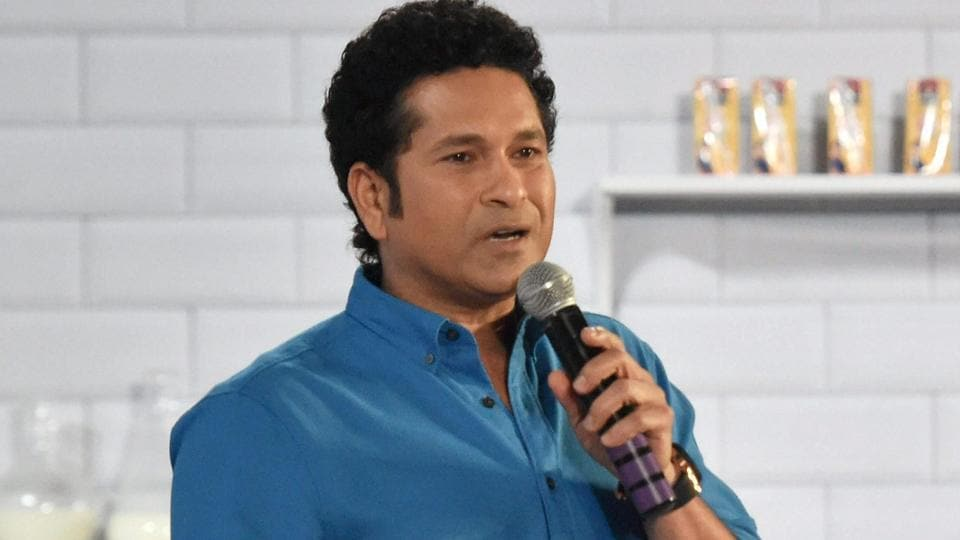 Mumbai: Cricket legend Sachin Tendulkar during a launch event in Mumbai.