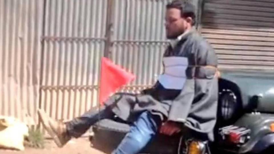 Major Leetul Gogoi was accused of rights abuse by activists after he tied Farooq Ahmad Dar to the front of an army jeep on April 9 and paraded the man through several villages.