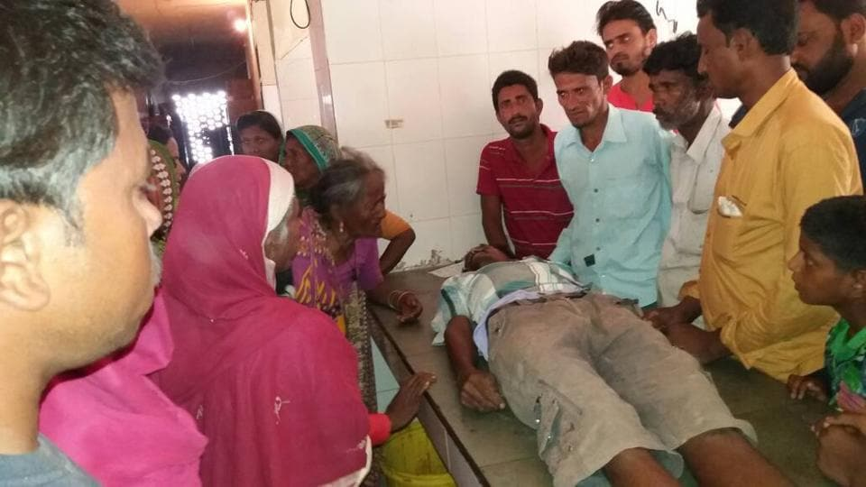 Md Naushad who was attacked with a shovel for failing to pay Rs 50 he owed to a fellow labourer in Araria.