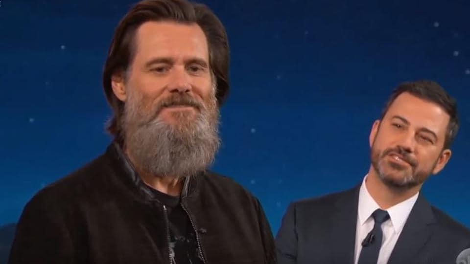 Jim Carrey,Beard,Jimmy Kimmel Live