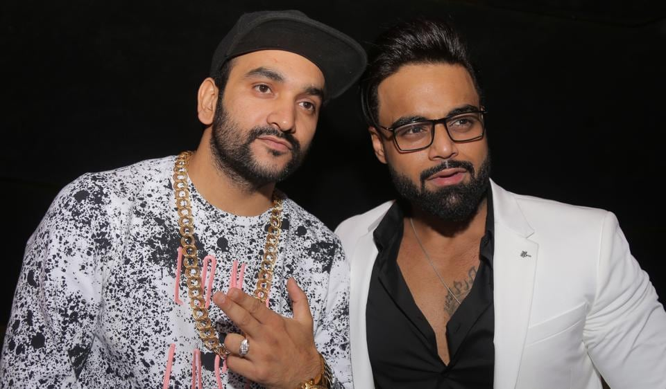 Rapper Fazilpuria was seen with singer Indeep Bakshi who celebrated his 27th birthday in the Capital on Tuesday.